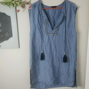 J.crew chambray tunic dress